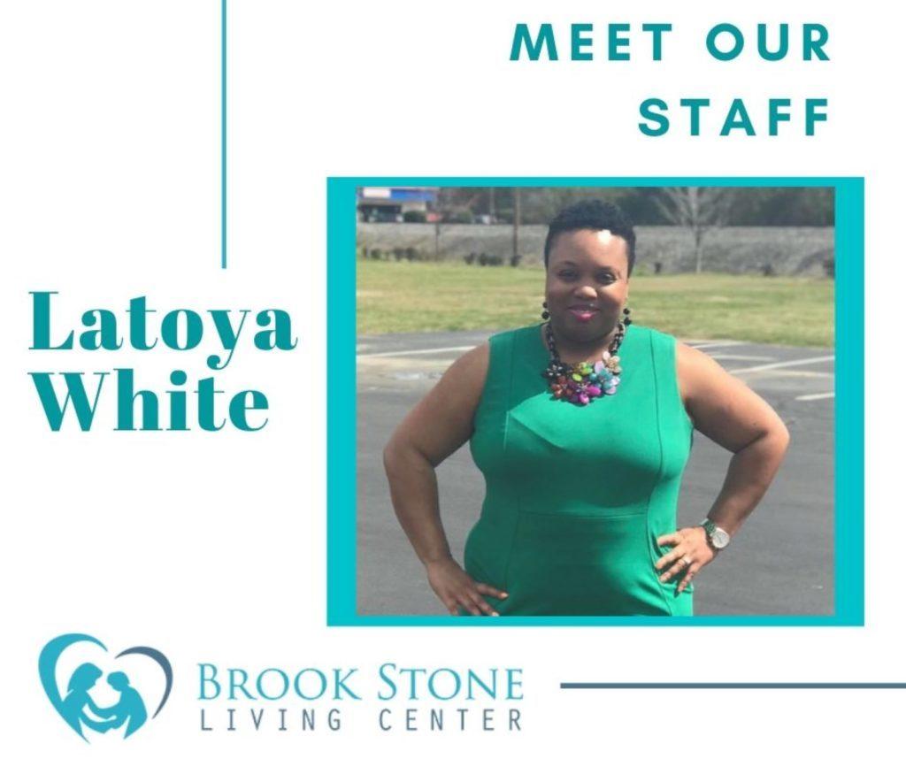 Staff member Latoya White at Brook Stone
