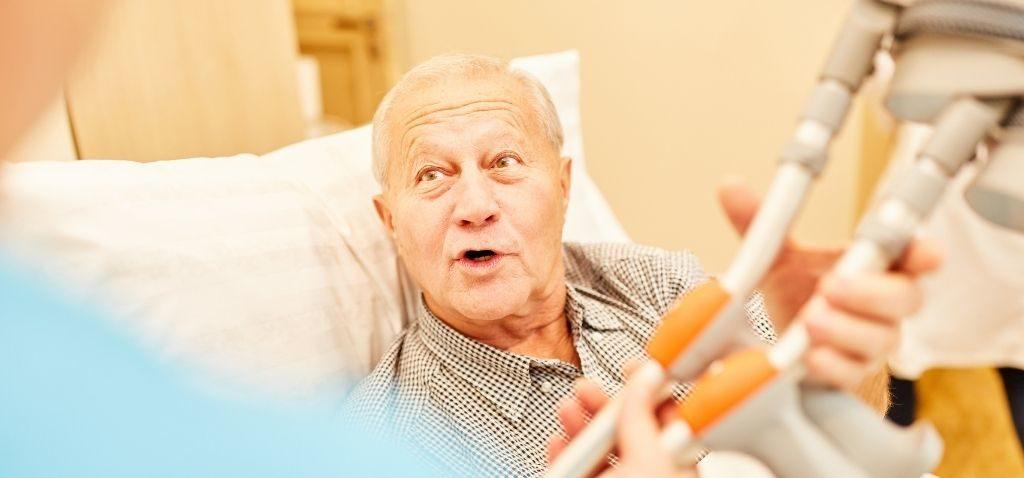 senior rehabilitation after a fall or emergency surgery